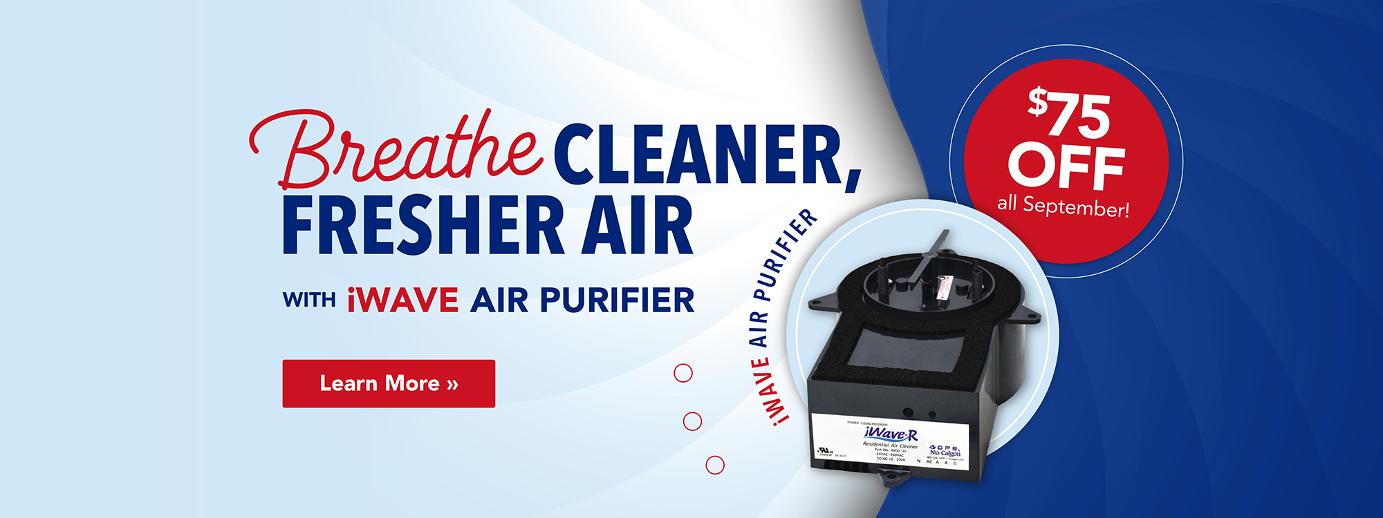 $75 Off iWave Air Purifier All September